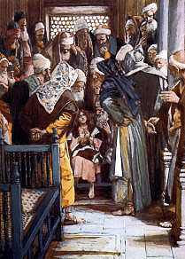 Jesus In the Temple Age 12Painting by James Tissot 1895