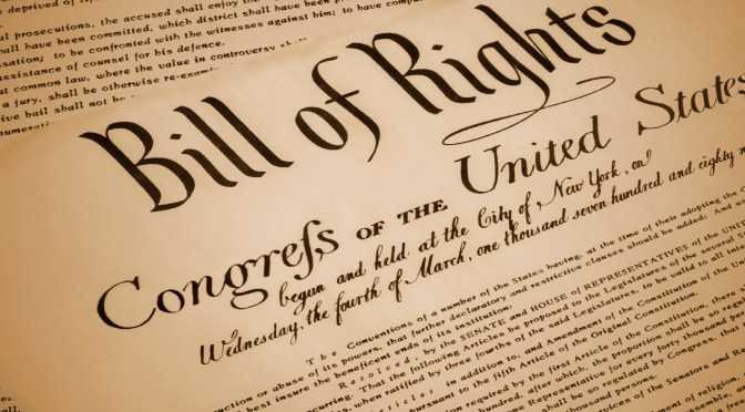 Discussing the Bill of Rights is not an Argument about Politics